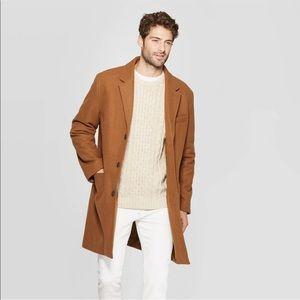 Men's Goodfellow & Co Standard Fit Overcoat Camel